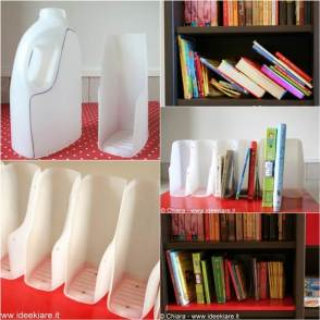 How-to-DIY-Book-Organizer-from-Recycled-Plastic-Bottles